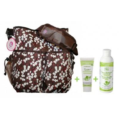 Комплект чанта + крем против подсичане + гел за коса и тяло200ml