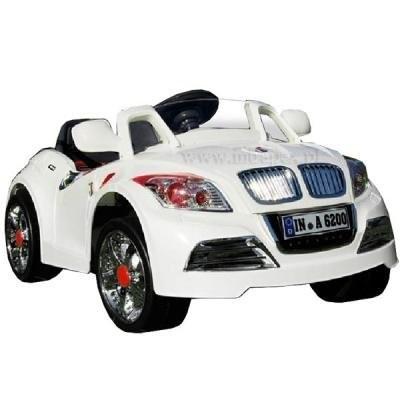 28А AUDI 12V бяло - акумулаторна кола с дистанционно Moni