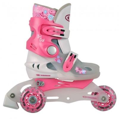 Детски ролери WORKER TriGo Skate -розови