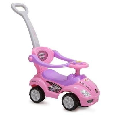Кола за бутане с родителски контрол 382 - розова