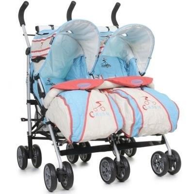 Twin Classic Blue - количка за близнаци Cangaroo