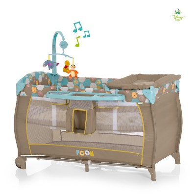 Babycenter 2014 детска кошарка Disney 2 нива -Pooh Spring in the Wood Beige