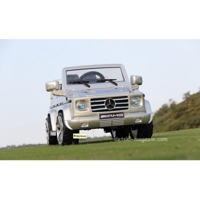 Акумулаторна кола Mercedes G class 12V - сив