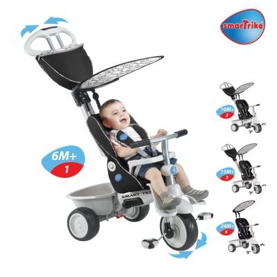 Smart Trike Recliner 4 в 1 Детска триколка - черна