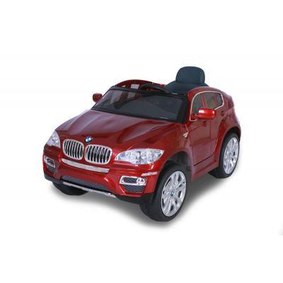 Лицензирана BMW X6 металик 12V Акумулаторна кола - червена