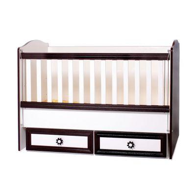 Dizain Baby - Детско легло Теди 70/130 см. - бяло с венге