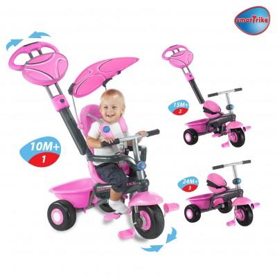 Smart Trike детска триколка Sport 3 в 1 - розова