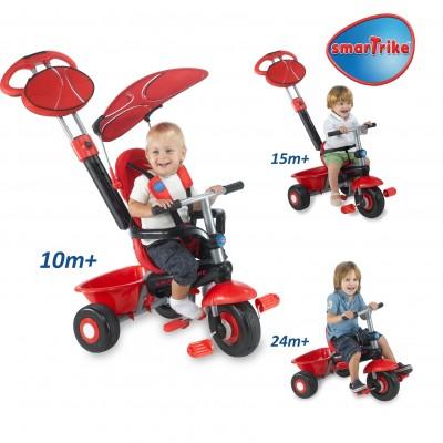 Smart Trike Детска триколка Sport 3 в 1 - червена