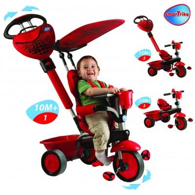 Smart Trike Детска триколка Zoo 3 в 1 - червена