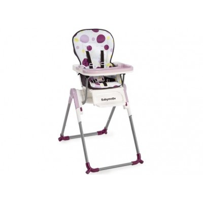 Slim стол за хранене Babymoоv - цвят лилаво-розов