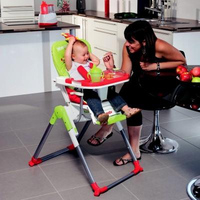 Slim стол за хранене Babymoоv - цвят зелено-червено