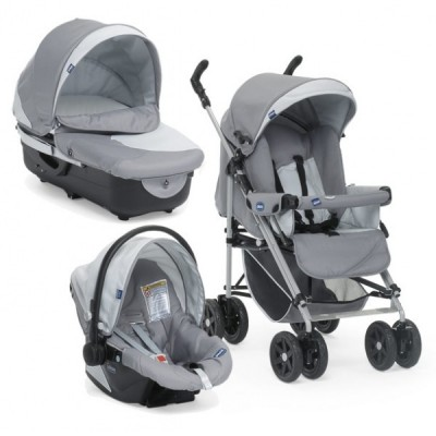 CHICCO TRIO ENJOY FUN 2012 Moonstone комбинирана бебешка количка