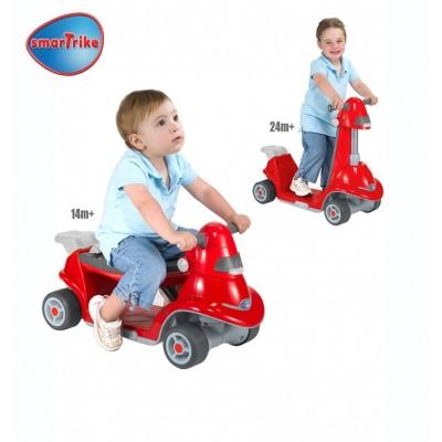 SMART TRIKE скутер 2 в 1 червен