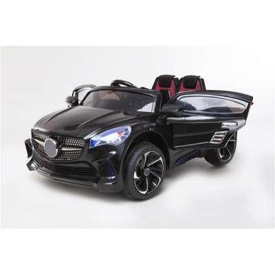 Mercedes - Детска акумулаторна кола с меки гуми - черна