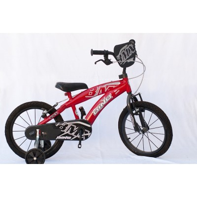 """Детски велосипед BMX 14"""" Dino червено"""