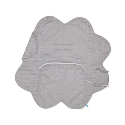 Бебешко одеалце от олекотен памук Wallaboo - сиво