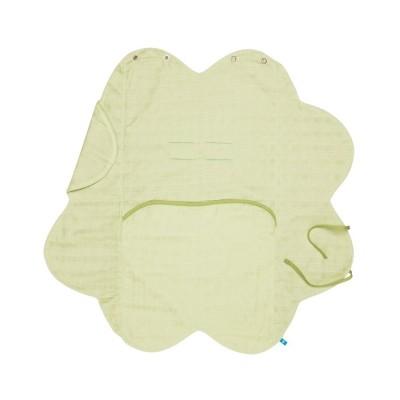 Бебешко одеалце от олекотен памук Wallaboo - зелено