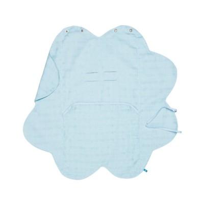 Бебешко одеалце от олекотен памук Wallaboo - синьо