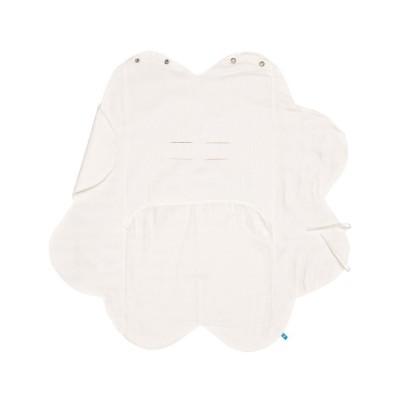Бебешко одеалце от олекотен памук Wallaboo - кремаво