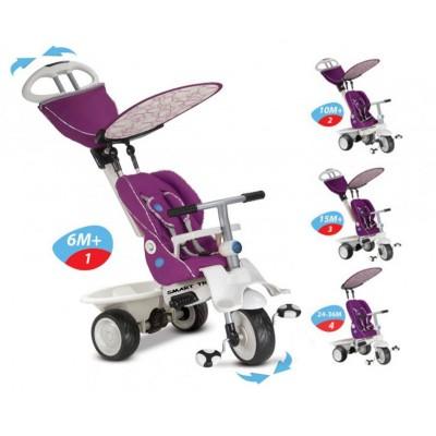 Smart Trike Recliner 4 в 1 Детска триколка - цикламен