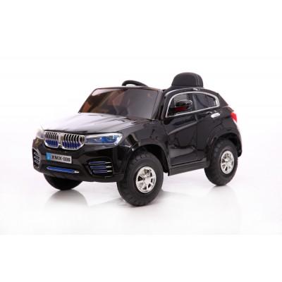Акумулаторен джип BMW XMX-806 с дистанционно, меки гуми и кожена - черен