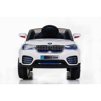 Акумулаторен джип BMW XMX-806 с дистанционно, меки гуми и кожена - бял