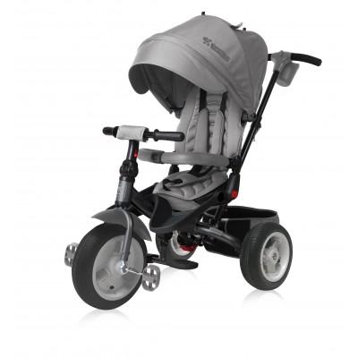 Детска триколка с въздушни гуми JAGUAR Lorelli 2018 - сива 10050390005