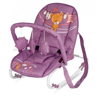 Bertoni-Lorelli шезлонг Top Relax 2013 -  Violet Teddy Bear