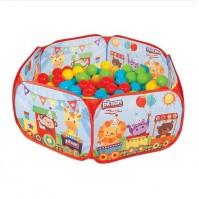 Детски сгъваем басейн с топки 6 см. (200 бр)