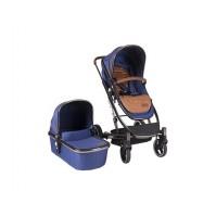 Комбинирана бебешка количка Divaina KikkaBoo 2в1 - True Blue