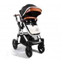 Комбинирана бебешка количка Cangaroo Luxor - черна