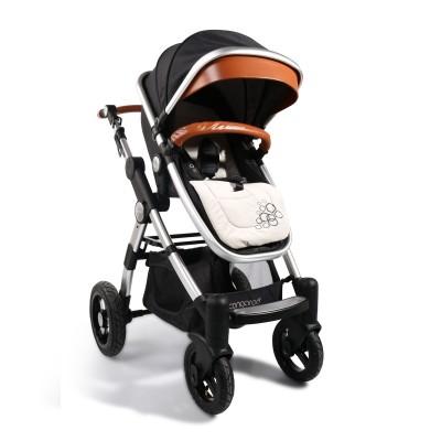 Комбинирана бебешка количка Cangaroo Luxor - черна 106639