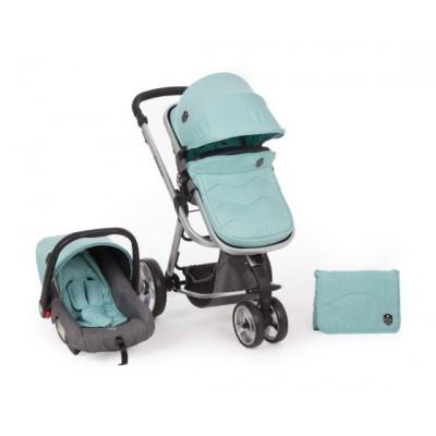 Комбинирана количка Kikka boo Amica 3 в 1 - Mint 31001010101
