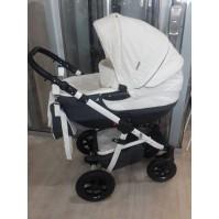 Бебешка количка 2в1 Gusio Maseratti - бялa с графит