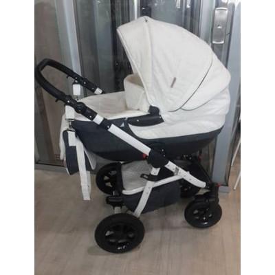 Бебешка количка 2в1 Gusio Maseratti - бялa с графит 30222
