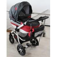 Бебешка количка 2в1 Gusio Maseratti - черна еко кожа