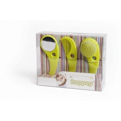 Комплект четка, гребен и огледало Zazo (св. зелен) BA-00061-Lime