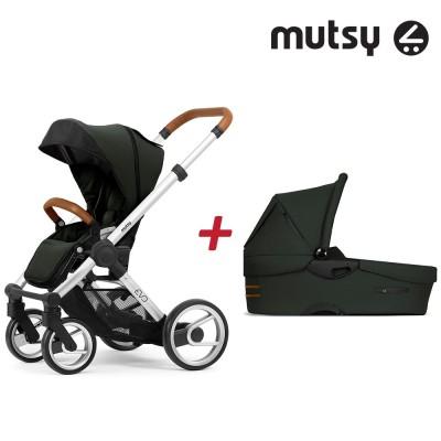 Пакет Шаси Mutsy Evo UN Standard + Кош за новородено и Седалка и сенник Mutsy Evo Bold Mountain Green MT-0411 MT-0411-paket-evo-Bo m.green