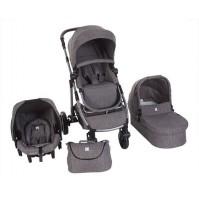 Комбинирана бебешка количка 3в1 UGO Dark Grey Melange