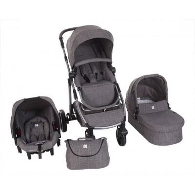 Комбинирана бебешка количка 3в1 UGO Dark Grey Melange 31001010049