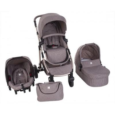 Бебешка количка 3в1 UGO Beige Melange 31001010048