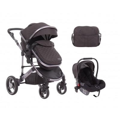 Комбинирана количка 3 в 1 с трансф.седалка D`ora Dark Grey Kikka boo 31001010087
