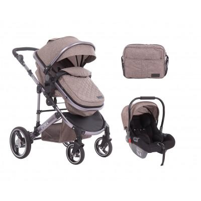 Комбинирана количка 3 в 1 с трансф.седалка D`ora Beige Kikka boo 31001010088