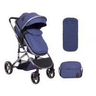 Комбинирана количка 2 в 1 Tiara Dark Blue Kikka boo