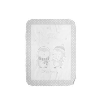 Супер меко бебешко одеяло Love Pingus 80/110 см сиво Kikka boo 31103020086