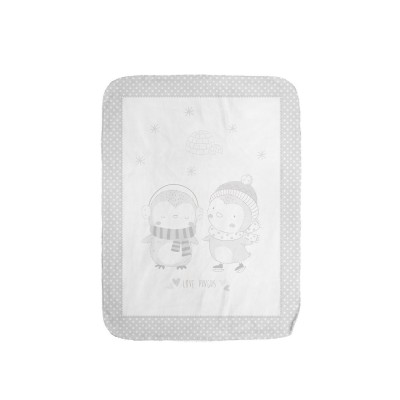 Супер меко бебешко одеяло Love Pingus 110/140 см сиво Kikka boo 31103020083
