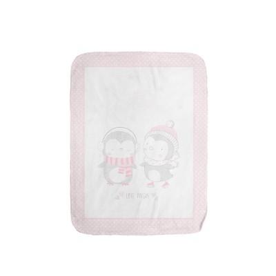 Супер меко бебешко одеяло Love Pingus 110/140 см розово Kikka boo 31103020084