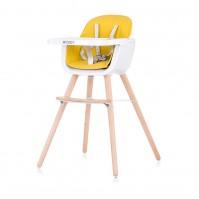 """Chipolino Столче за хранене 2 в1 """"Woody"""" жълт"""