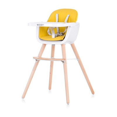 "Chipolino Столче за хранене 2 в1 ""Woody"" жълт STHWD0203YE"