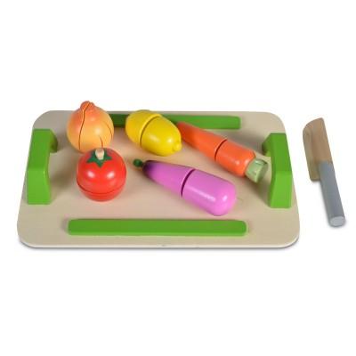 MONI TOYS Дървена Дъска за рязане със зеленчуци 4308 107903